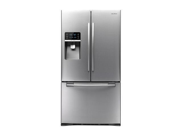 Samsung RFG296HDRS 29.0 cu.ft. Stainless Steel French Door Refrigerator w/ Spill Proof Glass Shelves, Humidity Controlled ...