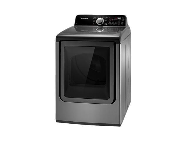 SAMSUNG DV456EWHDSU Stainless Platinum Electric King-size Capacity Top Load Dryer