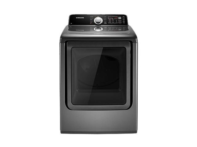 SAMSUNG DV456GWHDSU Stainless Platinum 7.3 cu. ft. Gas King-size Capacity Top Load Dryer