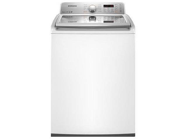 SAMSUNG WA456DRHDWR White 4.5 Cu. ft. Top-Loading King-Size Capacity High-Efficiency Washer