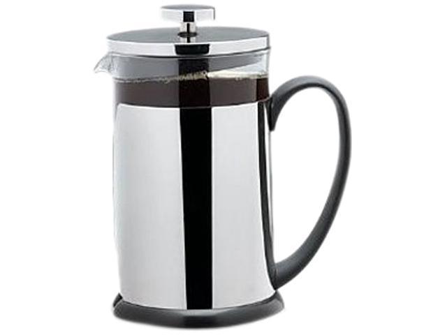 Cookpro 681 Black/Steel Heat Resistant Glass Coffee Plunger