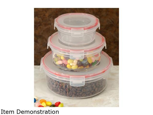 Cookpro 618 6 pc Food Container Set with Airtight Lock Round Cover