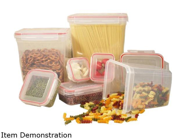 Cookpro 622 14-Piece Storage Container Set w/ Square Lock Seal Lids