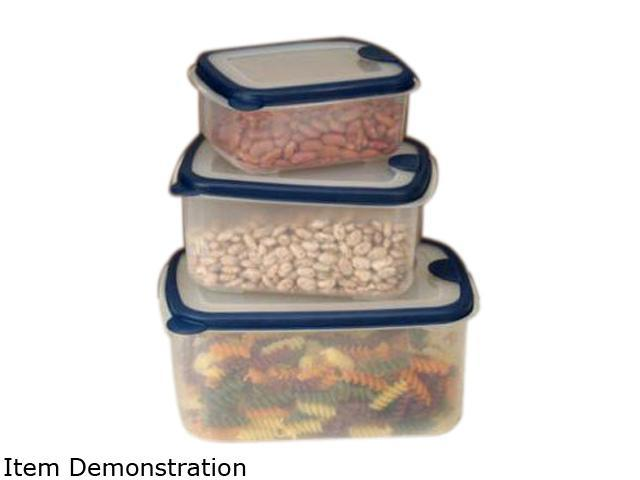 Cookpro 616 Plastic Food Containers 6pc Set Rectangular Lids