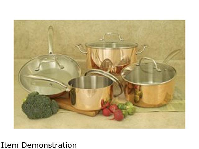 Cookpro 546 - 8 Pc Tri-Ply Copper Cookware Set with Glass Lids
