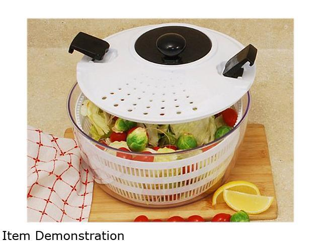 Cookpro 605 Plastic Salad Spinner w/ Locking & Straining Lid