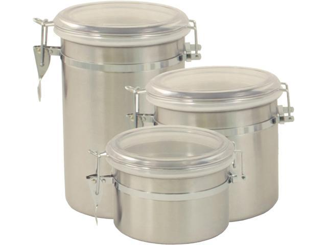 Cookpro  693  3 Piece Stainless Steel Canister Set (25 oz, 47.5 oz & 61 oz)