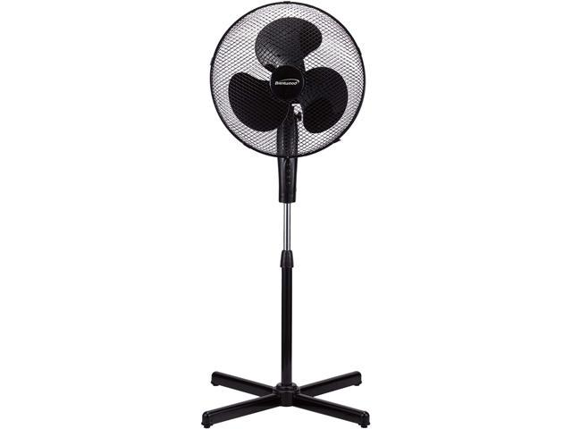 "Brentwood F-16SMB 16"" Oscillating Stand Fan Black"