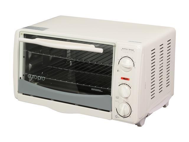 Euro-Pro TO156 White Extra-Large-Capacity 6 Slice Toaster Oven