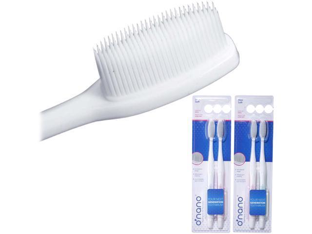 O-Nano  NA-A2009-04ON Mini Soft Toothbrush - 2x2 pack