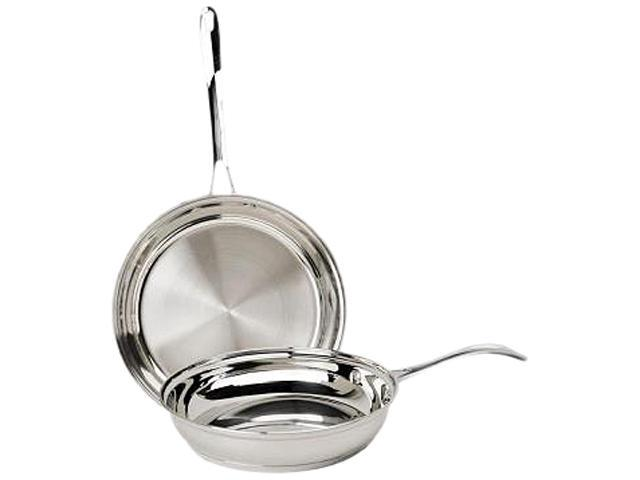 "Ecolution EPST-5202 Pure Intentions Premium Stainless Steel 2pc Fry Pan Set (9 1/2"" & 11"" Fry Pans)"