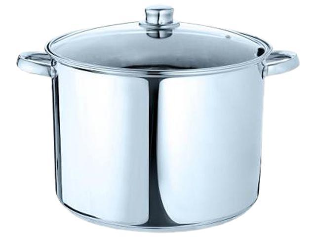 Ecolution ESTL-4512 Pure Intentions Stainless Steel 12 Qt. Stock Pot with Lid