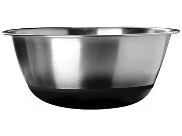 Amco 872SBK Non-Skid Silicone-Bottom Bowl Silver
