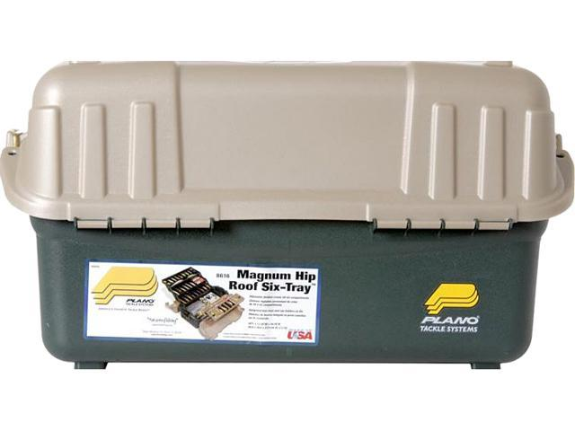Plano Molding 861600 Hip Roof Tackle Box w 6 Trays