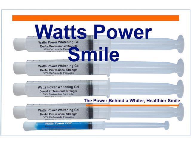 Watts Power WP40+1 Professional 35% Dual Action Surface & Deep Stain Teeth Whitening Gels - Huge 10ml Gels Plus NEW Enamel Booster Gel - Kosher Certified USA