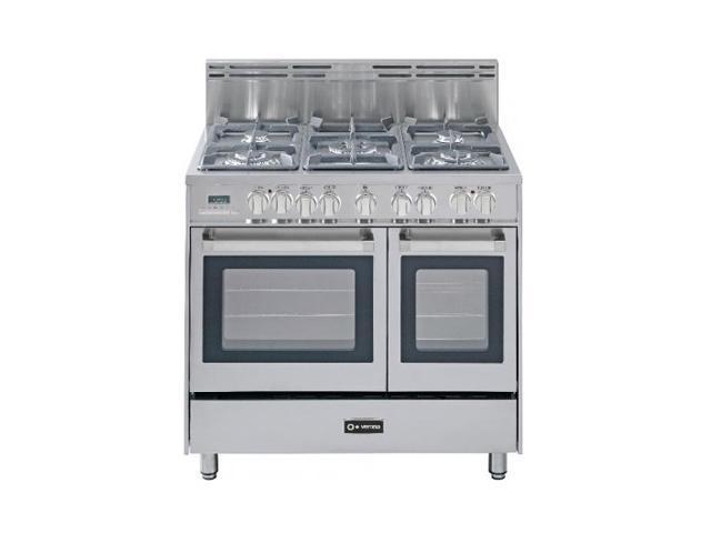 """Verona 36"""" Double Oven Dual Fuel Range VEFSGE365DSS"""