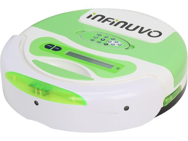 Infinuvo QQ3-LT CleanMate Robotic Vacuum with Home Charging Base and Scheduler, LCD Display Panel