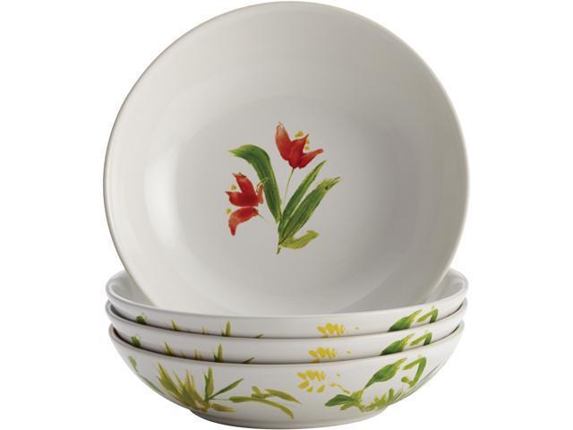 BONJOUR  50198  Dinnerware Meadow Rooster Stoneware 4-Piece Fruit Bowl Set