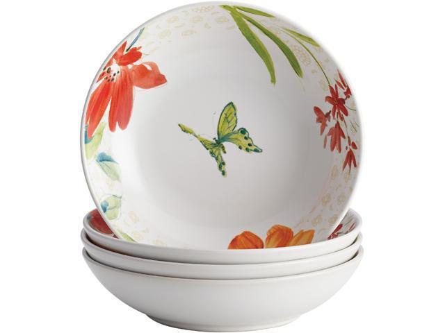 BONJOUR  51928  Dinnerware Al Fresco Porcelain Stoneware 4-Piece Fruit Bowl Set