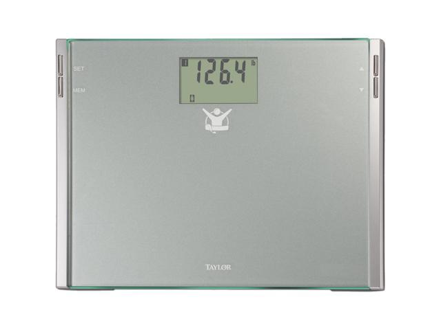 TAYLOR 7544-4102BL Biggest Loser High Tempered Glass Electronic Digital Bath Scale