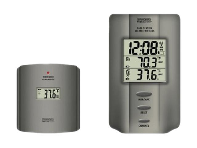 Springfield Precision Wireless Multi-zone Digital Thermometer With Radio Controlled Clock