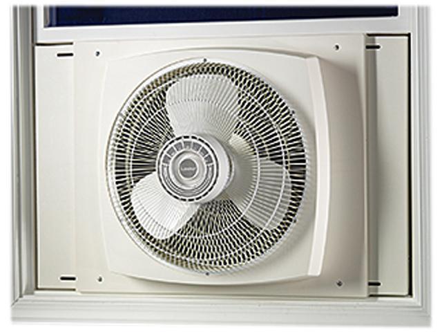 Lasko 2155A 16-inch 3 Speeds Electrically Reversible Window Fan - White