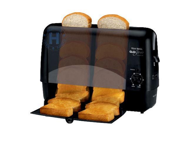 West Bend 78224 Black Quik-Serve Toaster