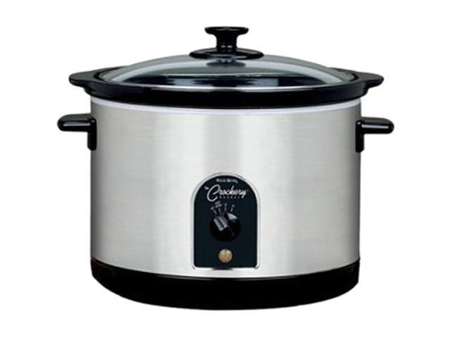West Bend 85156 Stainless Steel Round Crockery Cooker