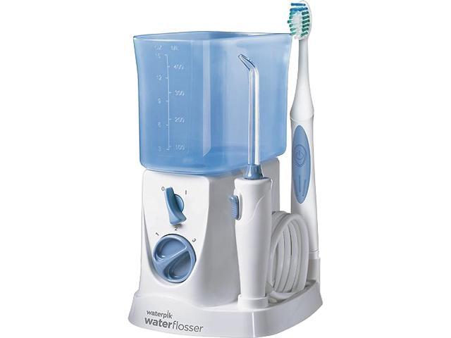 waterpik wp700 sonic toothbrush and water flosser white blue. Black Bedroom Furniture Sets. Home Design Ideas