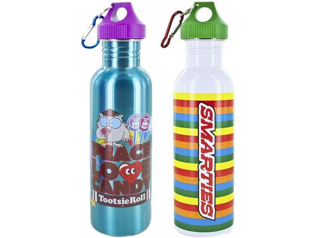 Smart Planet EC-10LICOCI2 Licensed Stainless Steel Bottles 2 Pack (Tootsie Roll & Smarties)