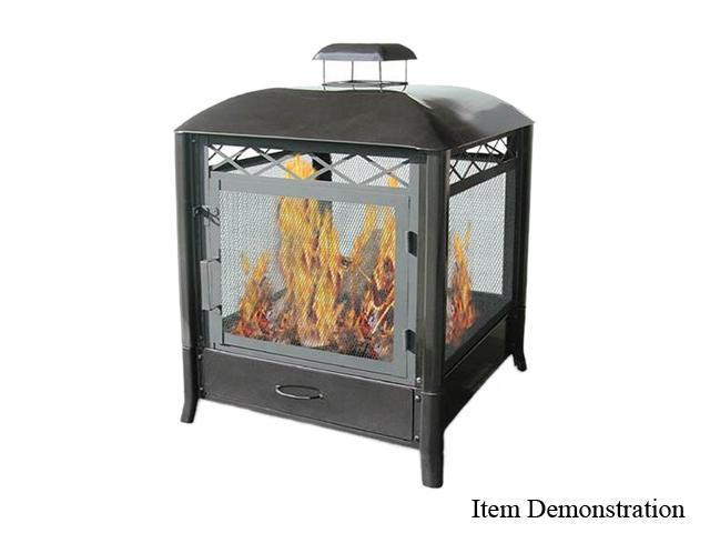 "Landmann 28107 The Aspen 25"" Outdoor Square Fireplace"