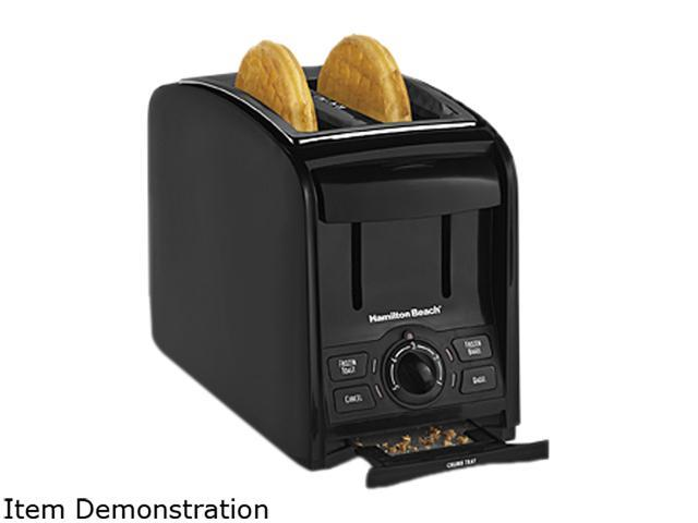 Hamilton beach 2 slice cool touch toaster black stainless - Cool touch exterior convection toaster oven ...