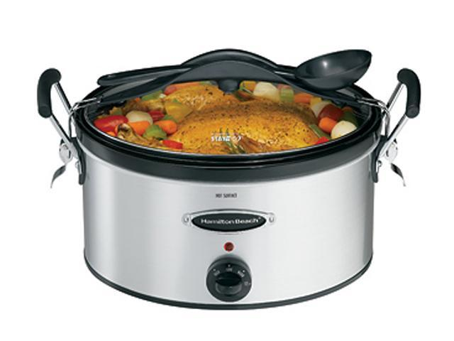 Hamilton Beach 33162h Stainless Steel 6 Qt Stainless Look