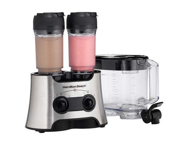 Hamilton Beach 52147H Silver 80 oz. Jar Size Dual Wave Versatile Blender