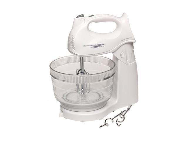 Hamilton Beach 64695N Power Deluxe 6 Speed Stand Mixer White
