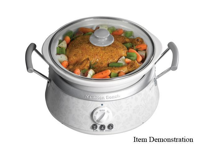 Hamilton Beach 33133HW White 6 Qt. 3-in-One Slow Cooker