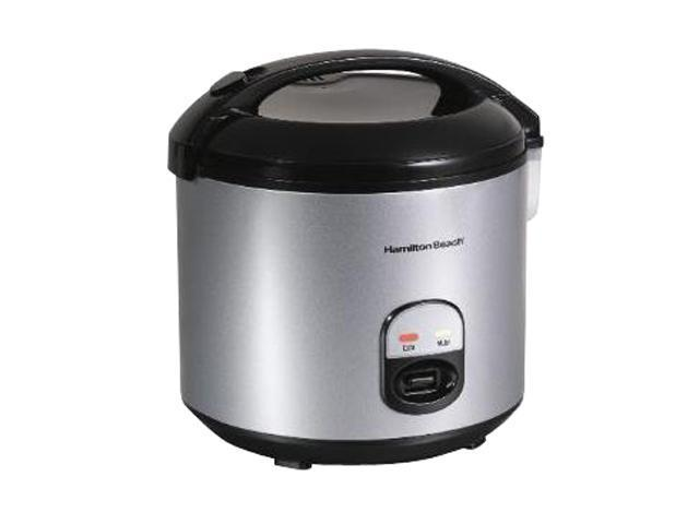 Hamilton Beach 37535 Black/Stainless Steel 4 to 20 Cup Rice Cooker and Food Steamer