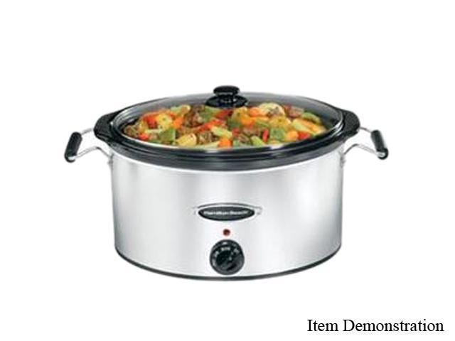 Hamilton Beach 33172 Stainless Steel 7 Qt. Slow Cooker