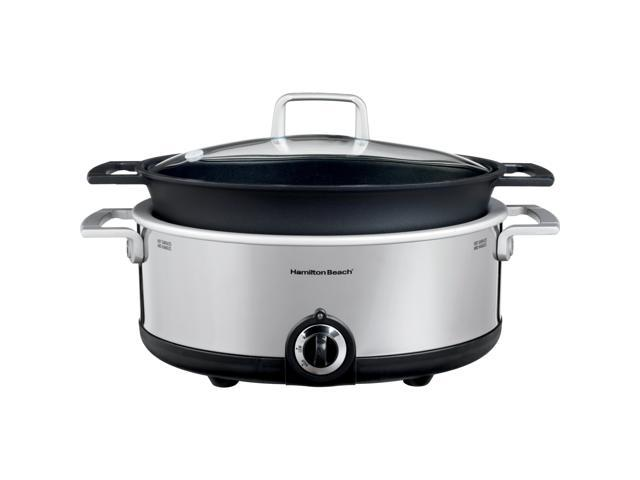 Hamilton Beach 33351 Stainless Steel Premiere Cookware Slow Cooker