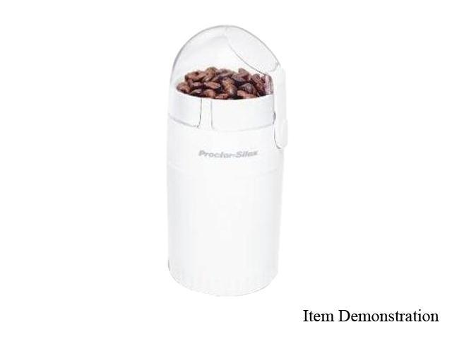 Proctor Silex E160B White Coffee Grinder