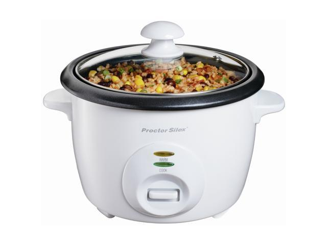 Proctor Silex 37533 White 5 Cups (Uncooked)/10 Cups (Cooked) Rice Cooker