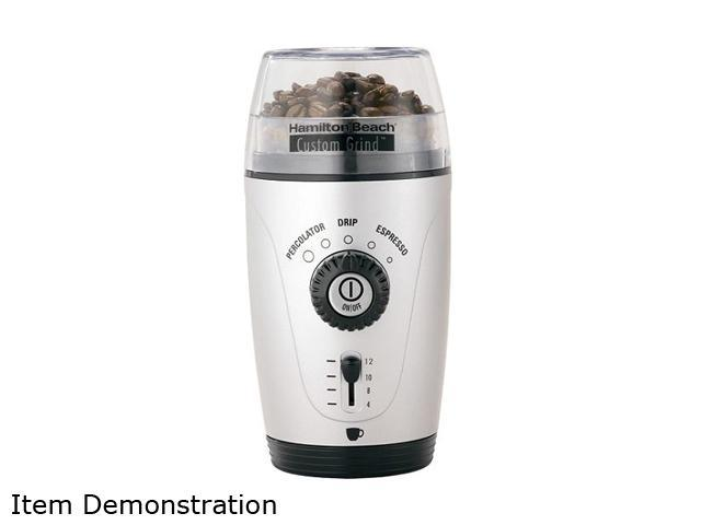 Hamilton Beach 80365 Silver Custom Grind Hands-Free 12 Cup Coffee Grinder