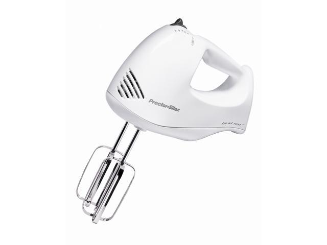 Proctor Silex 62545Y 5 Speed Hand Mixer White
