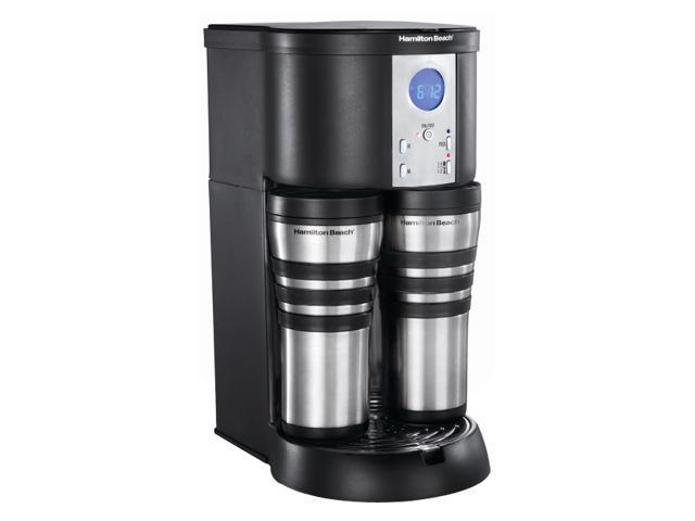 Hamilton Beach 45237R Black Stay Or Go Digital Thermal Coffeemaker