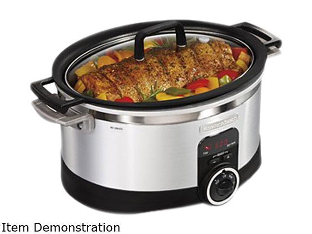 Hamilton Beach 33567T Stainless Steel 6 Qt. 6 Quart Programmable Stovetop Slow Cooker