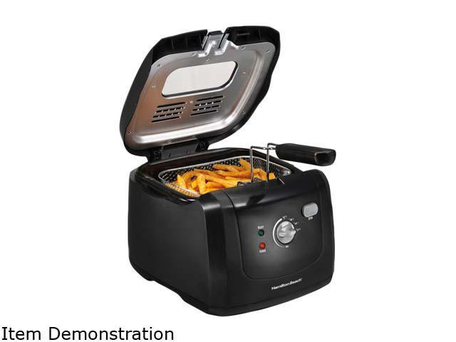 Hamilton Beach - 8-Cup Immersion Heater Deep Fryer - Black