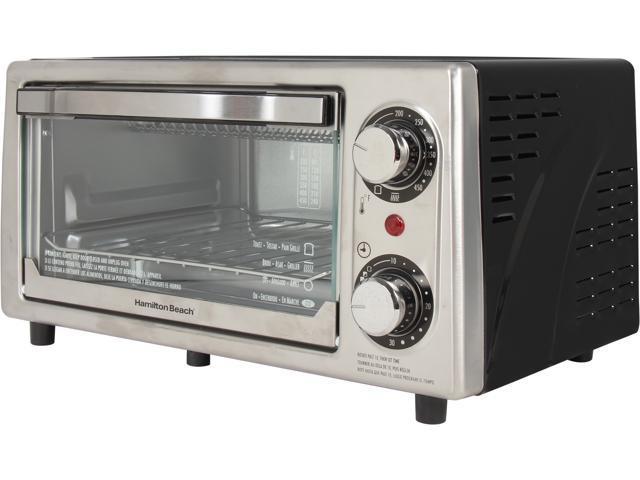 Hamilton Beach 31137 Stainless Steel 4 Slice Toaster Oven