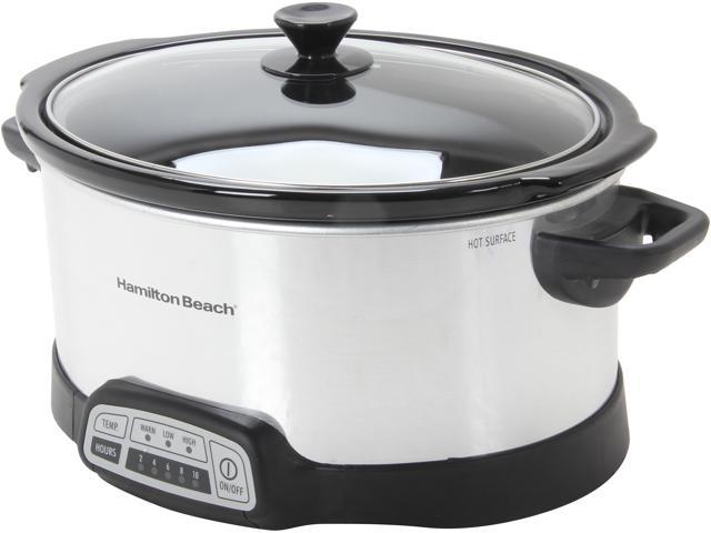 Hamilton Beach 33463 Stainless Steel 6 Qt. Programmable 6 Quart Slow Cooker
