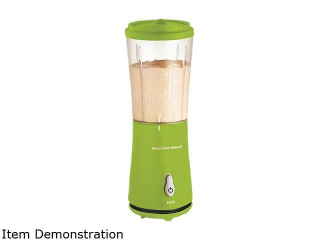 Hamilton Beach 51126 Green 12 oz. Jar Size Single-Serve Blender with Travel Lid