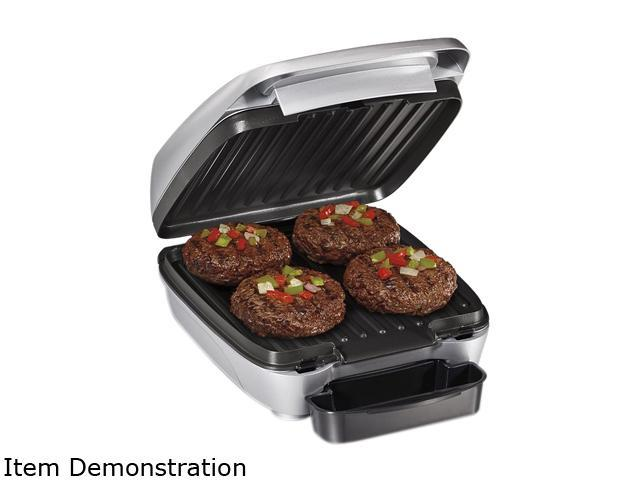 Hamilton beach 25359 stainless steel removable plate indoor grill - Health grill with removable plates ...